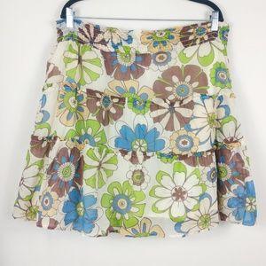 Olian Floral Skirt Boho Style